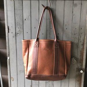 LL Bean large leather tote bag shopper!